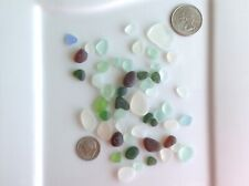 Genuine Surf Tumbled Sea Glass from HI Rounded Frosty Mostly JQ 50 Pieces