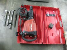 New listing Hilti Te 1000-Avr Demolition Hammer W/ Case, Handle and 4 bits