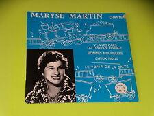 45 tours EP - MARYSE MARTIN - V'LA LES GARS DU TOUR DE FRANCE - DEDICACE - 1960'