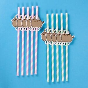 PACK OF 10 PUSHEEN PARTY DRINKING STRAWS *FAST UK DISPATCH*