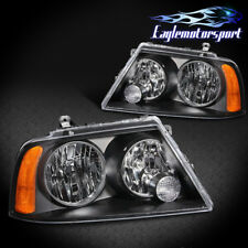 Fit 2003 2004 2005 2006 Lincoln Navigator Factory Style Black Headlights Pair