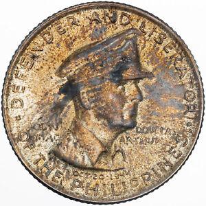 1947 PHILIPPINES 50 CENTAVOS SILVER BU UNC NATURAL COLOR TONED AMAZING (MR)