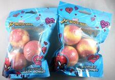 Spiderman Multicolor Cherry Scented 3 Swirled Bath Bomb Lot of 2