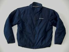 COLUMBIA Navy Blue Warm WINTER JACKET Ski Coat Size Men's LARGE Fleece Lined