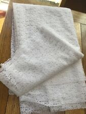 Vintage White Lace (synthetic) Fabric Remnant 4.5 Metres x 95cm