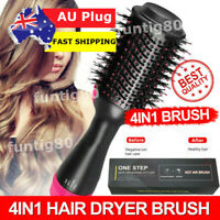 4 in 1 Pro Salon One-Step Hair Dryer and Volumizer Oval Brush Straightener Comb