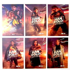SOLO: A Star Wars Story -Official Studio Promo Postcard Set NOT PROP Han Movie