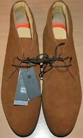 MENS M&S COLLECTION GENUINE SUEDE LEATHER CHUKKA BOOTS LACE-UP SIZE 9 TAN NEW