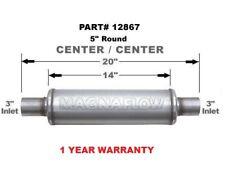"Magnaflow 12867 3"" inlet & outlet Resonator Round Muffler TURBO Universal"