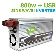 800W / 1600W + USB SINE WAVE POWER INVERTER FOR CAR BOAT CAMPING