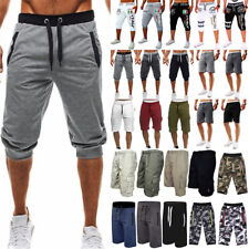 Mens Cargo Sweat Shorts Half Pants Casual Summer Beach Jogger Gym Sport Trousers