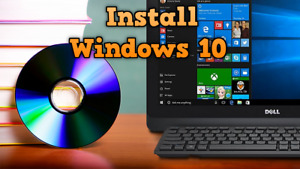 Windows 10 Pro, Home DVD CD installation for Laptop & PC (not a USB disk)