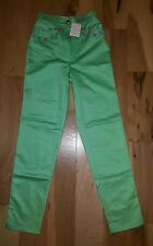 Nwt CHRISTIAN LINARES Green high waisted women's pants size 38 France $198 vtg.