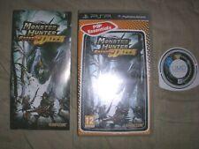 monster hunter freedom unite SONY PSP COMPLET BOITE ET NOTICE VERSION FRANCAISE