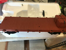 BACHMANN G 95699 20' FlatCar With 2 Crates as Load & Metal Wheels & Knuckles NEW
