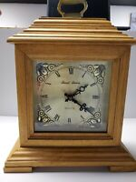 Daniel Dakota Westminster Battery Quartz Mantle Clock Wooden Brass Vintage