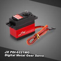 JX PDI-6221MG Metal Gear 4.8V-6V Digital Servo 20kg Torque for 1/8 1/10 RC car