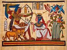 Dipinto Antico Egitto MURALE FARAONE REGINA Archery Freccia FIOCCO POSTER bmp10852