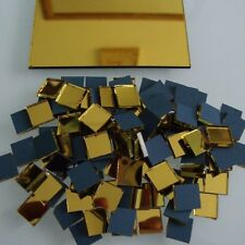 Gold Mirror Tiles Mosaic  (Approximately-10 x 10 mm ) 2 mm thick,  100 pcs