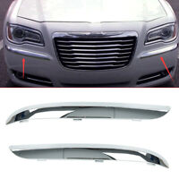 2X Front Bumper Molding Chrome Trim Decor Cover For 2011-2014 Chrysler 300
