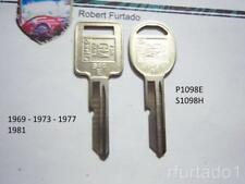 Key Blanks for Chevorlet Pontiac Oldsmobile Buick Cadillac 1969,1973, 1977, 1981