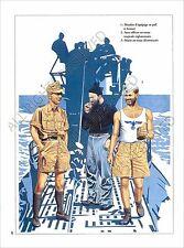 PLANCHE UNIFORMS PRINT WWII Kriegsmarine marine de guerre Submarine Crew U-Boot