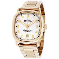 Shinola The Guardian Quartz Movement White Dial Unisex Watch S0120089895