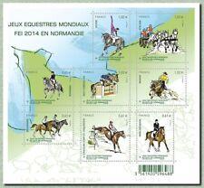 Feuillet F4890 - Jeux Equestres Mondiaux FEI 2014 en Normandie - 2014