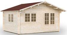 68 mm Gartenhaus Wien 2 - Alsaka + Fußboden 470x380 cm Holzhaus Blockhaus Holz