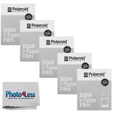 Polaroid Originals Instant i-Type Film Black & White  (8 Sheets) 5 Pack | Cloth