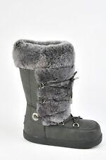 NEW UGG Boots Fur Winter Australia Julette Tall Size 5 Grey Waterproof Women's