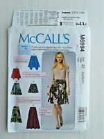 McCalls 6994 Misses Skirt Sewing Pattern Size Lrg-XLG-XXL Learn to Sew UNCUT