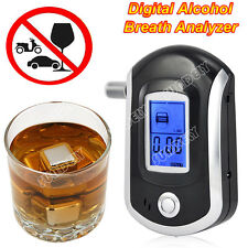 Digital police breath alcohol tester analyzer detector breathalyzer test LCD