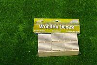 Kids Globe Landwirtschafts - 6pc Pack Holz Kartoffel Boxen Kasten - Farm Modell