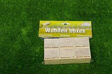 Kids Globe Farming - 6pc Wooden Potato Boxes Spud Crate - Farm Model 1:32 Scale