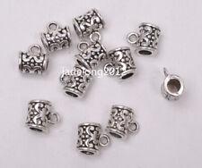 50pcs Tibetan silver charm BEAD BAIL beads pendant bails Connectors 10mm c3061