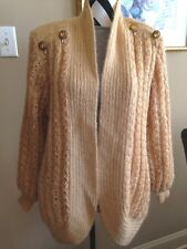 Alexa Grace Sweater Size Med Solid Gold Lined Wool    Box 4