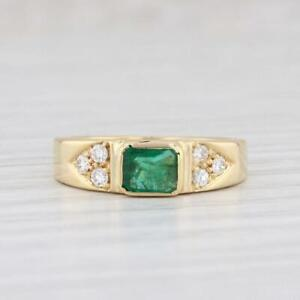 2.00 CT Green Emerald & Diamond Gorgeous Wedding Ring 14K Yellow Gold Over