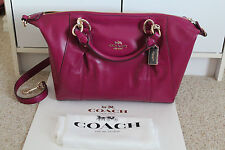 NWT Coach 58410 Colette Satchel Handbag Smooth Leather Satchel Fuchsia