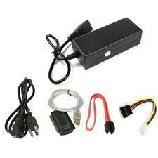 USB 2.0 to IDE SATA S-ATA 2.5 3.5 HD HDD Hard Drive Adapter Converter EU Plug~HK