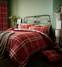 Catherine Lansfield Bedding Red Kelso Reversible Tartan Double Duvet Bed Set