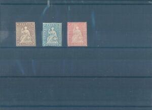 SWITZERLAND MNG stamps 1854-1862 - rare ! (CV $1250 EUR1080)
