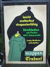 Original Plakat Entwurf von Fehling Klepper , Mäntel, Boot, Zelt         ( 6 )