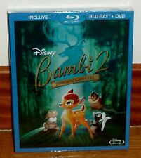 BAMBI 2 - LA PRINCE DEL FORÊT-COMBO BLU RAY+DVD DISNEY-SCELLÉS-NOUVELLES-ÉTANCHE