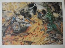 """""""PARADISE CAVE """"  by GREG POSTLE Rare Limited edition print 25 of 99"""
