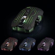 4 Colores LED Mouse inalámbrico óptico para juegos de PC portátil ratones USB Receptor 2.4gHz