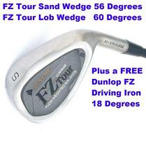 (2) Dunlop FZ Tour Oversize Wedges (Sand & Lob) Wedge, ALSO a free Driving Iron