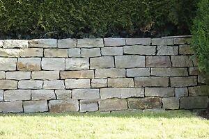 1 t Mauersteine Wesersandstein grau-bunt, Sandstein, Naturstein, Trockenmauer