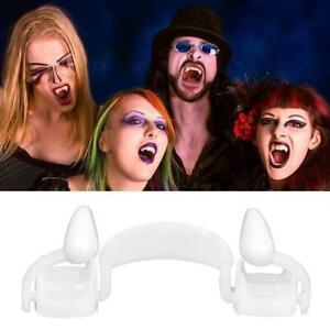 Retractable Vampire Teeth  Halloween Cosplay Makeup Horrific Fangs Zombie Teeth