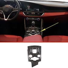 For Alfa Romeo Giulia 2016 - 2019 Real Carbon Fiber Center Console Cover Trim